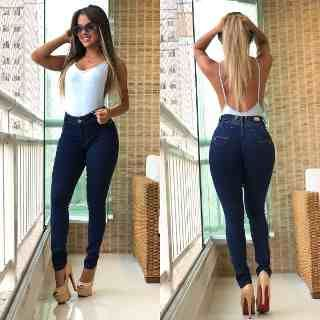 5713f64cc Roupas Feminina Calça Jeans Estilo Pit Bull Levanta Bumbum - R$ 119,99 em Mercado  Livre
