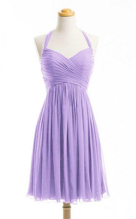 Women's Purple Short Dresses