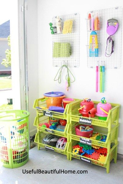 How To Organize All Those Garage Toys Plus Free Printable Labels At I M An Organizing Junkie Blog