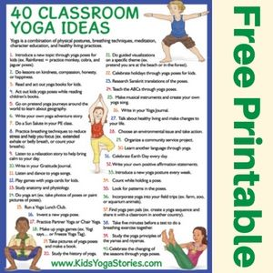how to do yoga in your classroom printable poster  yoga