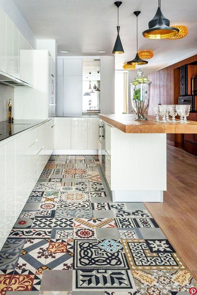 les carreaux de ciment la tendance du moment sol cocinas y cocina vintage. Black Bedroom Furniture Sets. Home Design Ideas
