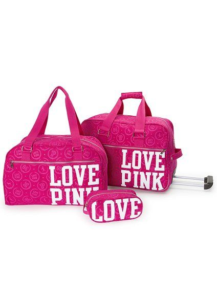 love pink luggage | Victorias Secret/PINK | Pinterest