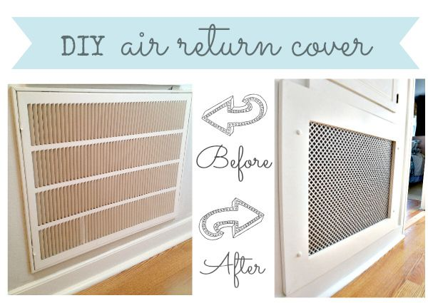 How To Make A Decorative Air Return Vent Cover Air Return Vent Cover Air Return Home Improvement Projects