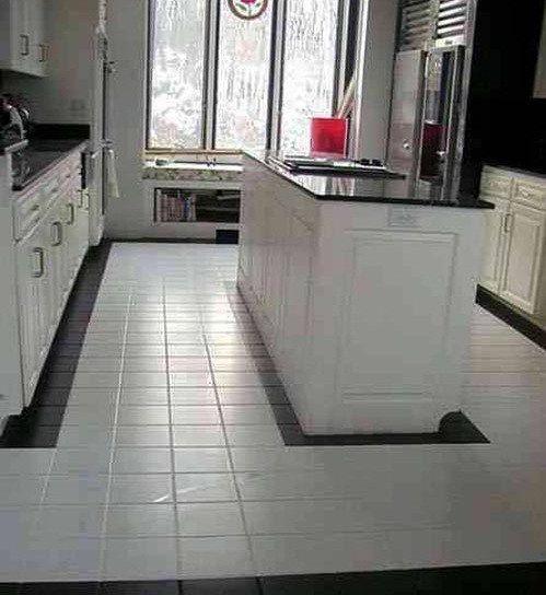 Floor Tile Designs Ideas White Clean Kitchen Ceramic Timeless Black Master Bathroom Makeover Pinterest