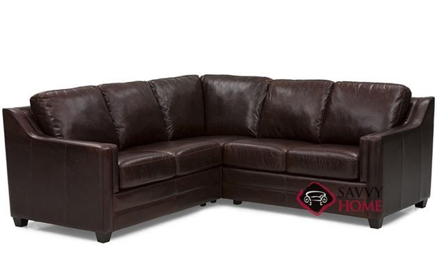 Corissa Leather Compact True Sectional Sofa By Palliser Timeless Comfort In A Unique Design