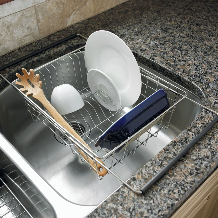 Expandable In-Sink Dish Rack | Dish racks | Pinterest | Dish racks ...