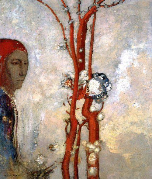 Odilon Redon Red Bush (1903-05)