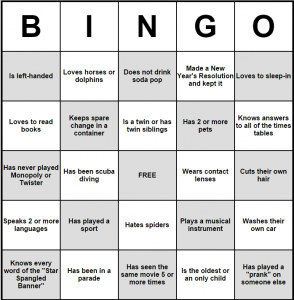 Pin By Cindy Rice On Family Reunion People Bingo Adult