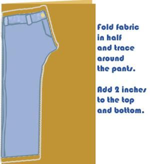 How to Sew Pants: Trace Your Pattern