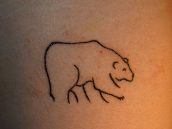 Cute Simple Line Art : Simple bear line art tattoo ^^ cute tattoos bears