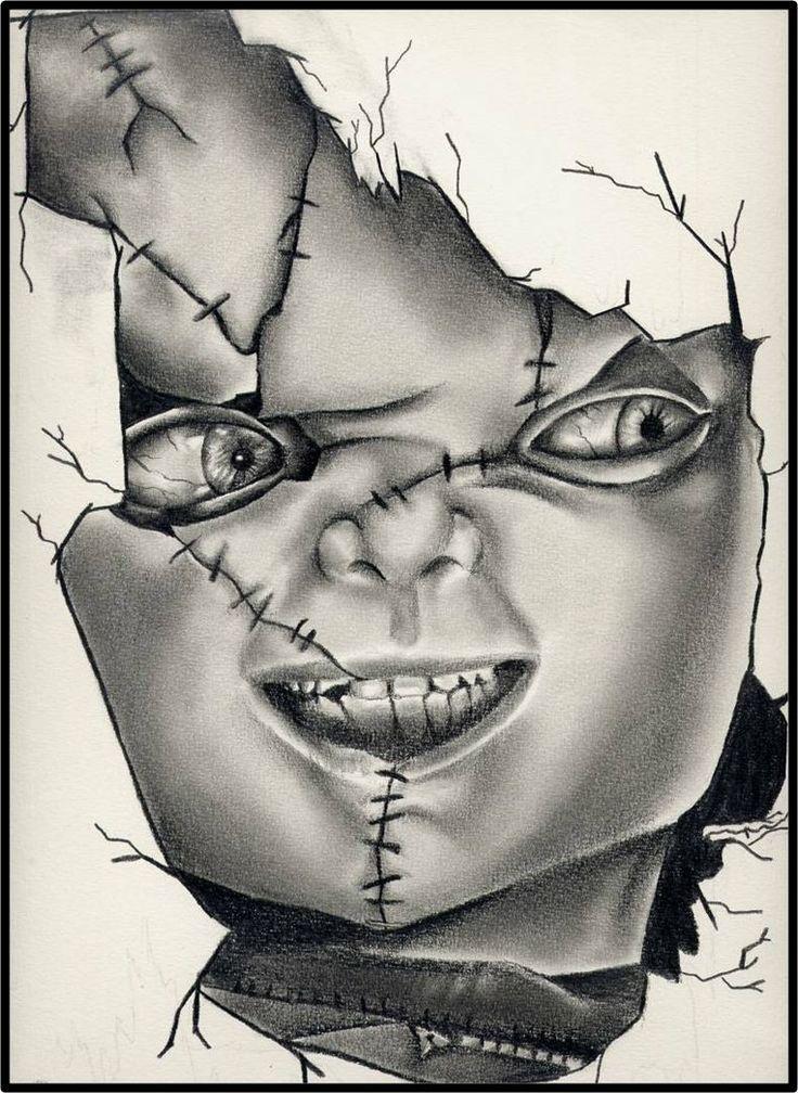 Bildergebnis Für Chucky Drawings In Pencil Bk Pinterest Chucky