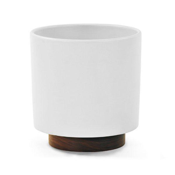 modernica - case study planter w/ plinth white