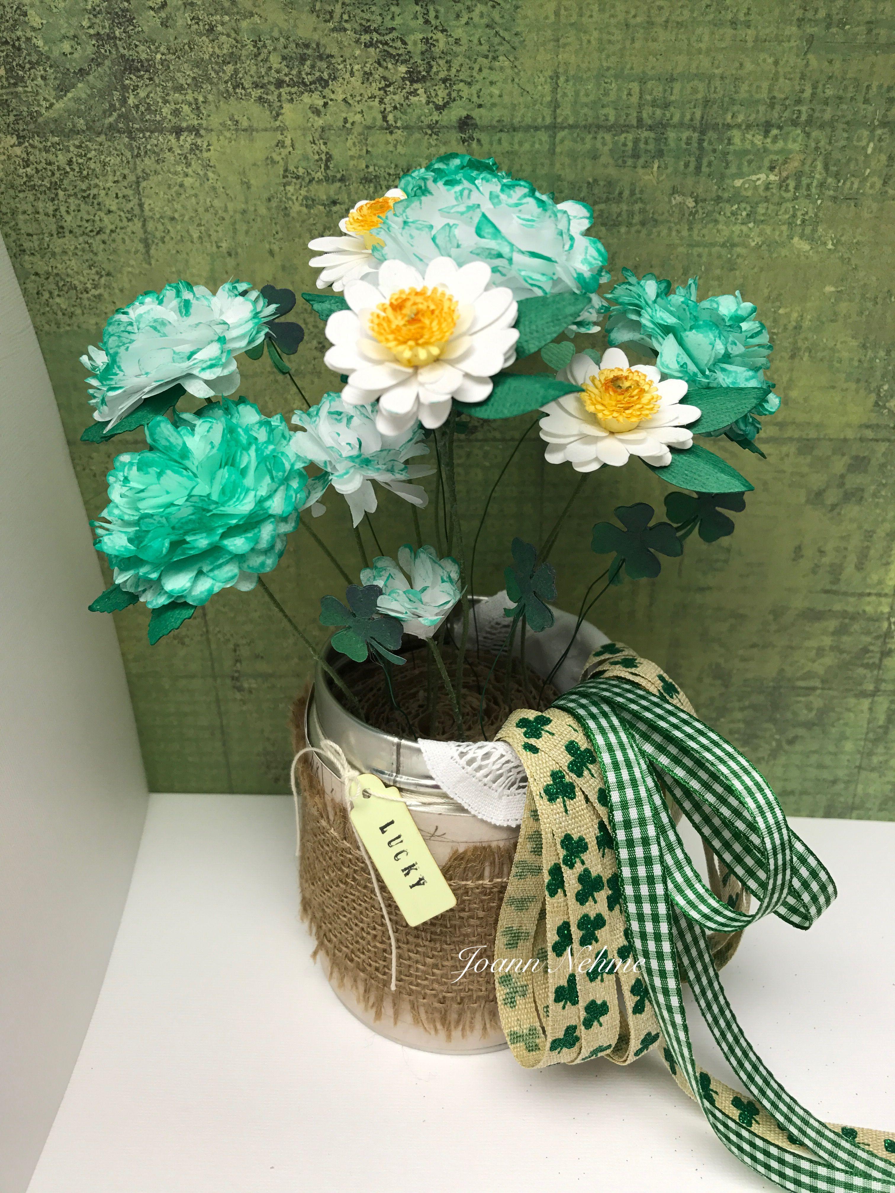 Saint Patrickus day  flowers tissue paper flowers