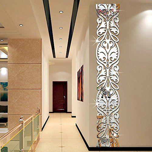 21 99 Diy Acrylic Europe Style Line Wall Sticker 3d Mirror Surface Wall Decals Modern Desi Mirror Decor Living Room Wall Stickers Living Room Doorway Decor