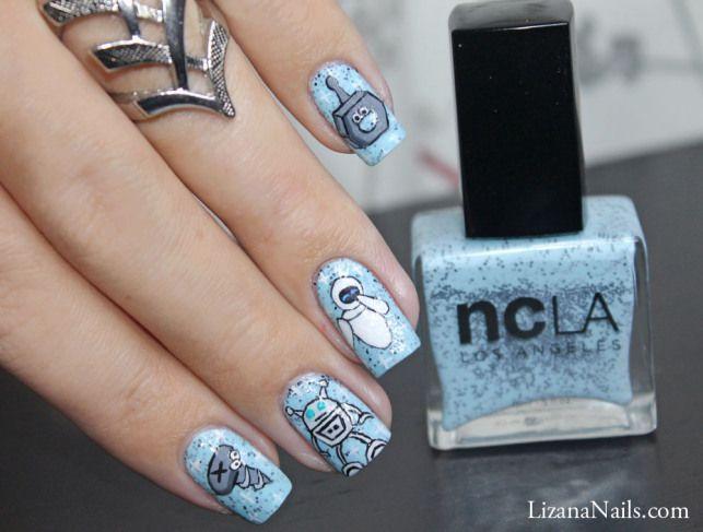 Nail Art Robot | Nails | Pinterest | Disney nails art, Disney nails ...