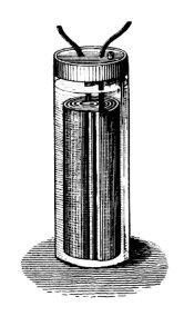 The First Wet Battery Zinc And Copper With Brine Cardboard In Between Created A Electrical Cur Alessandro Volta It 100