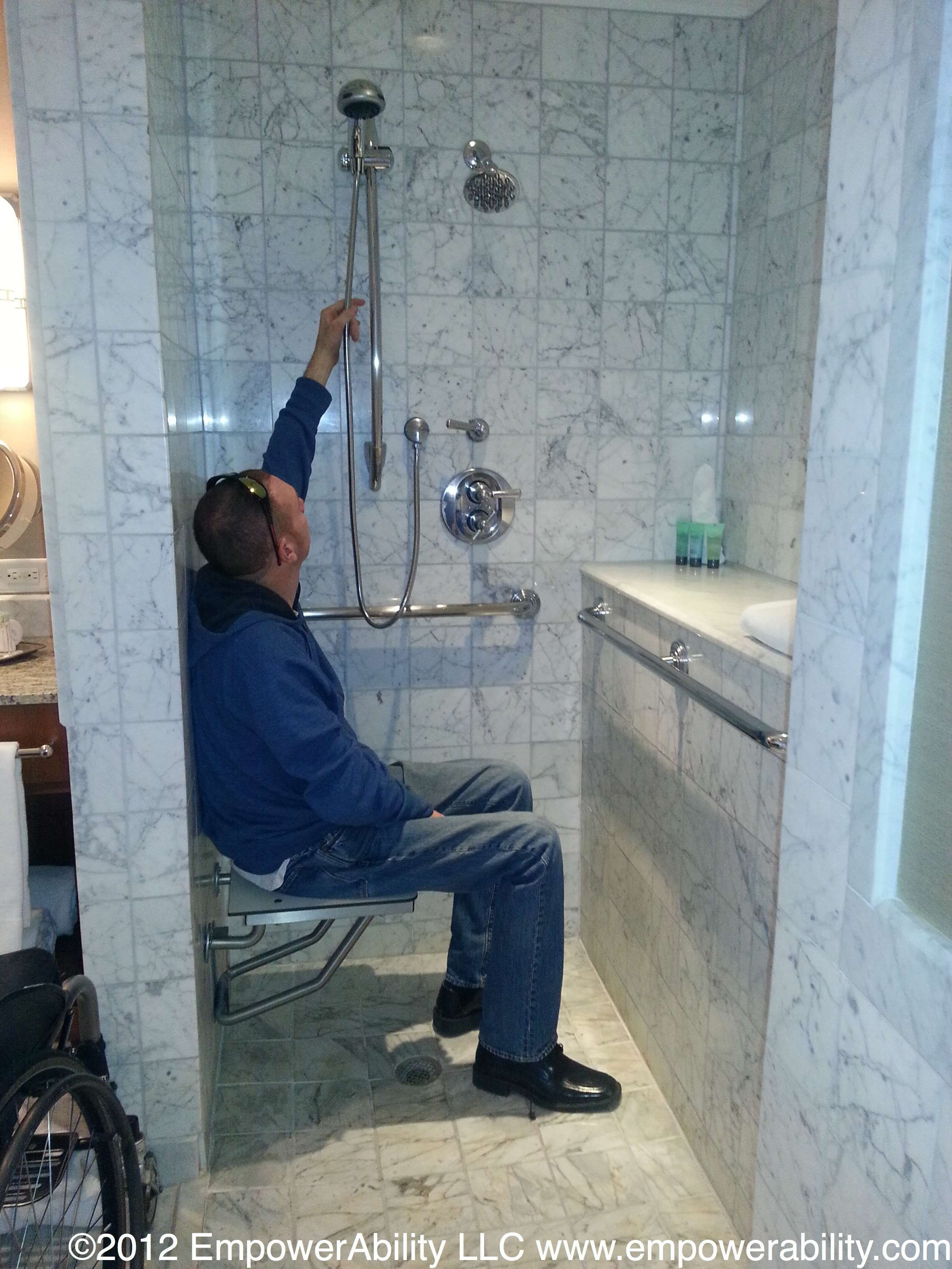 positioning of items when building handicapped shower - Google ...