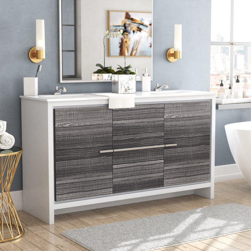 Bosley 59 Double Bathroom Vanity Set Double Vanity Bathroom