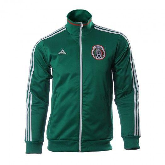 Demuestra tu pasión por El Tri con la Chamarra Adidas Selección Mexicana de  Fútbol. d6c005adf1134