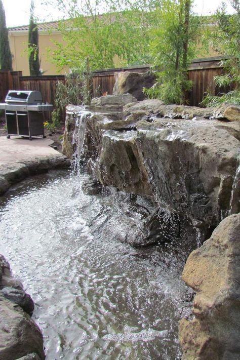 Stonemakers Backyard Waterfall Jpg Waterfalls Backyard Backyard Water Feature Water Features In The Garden