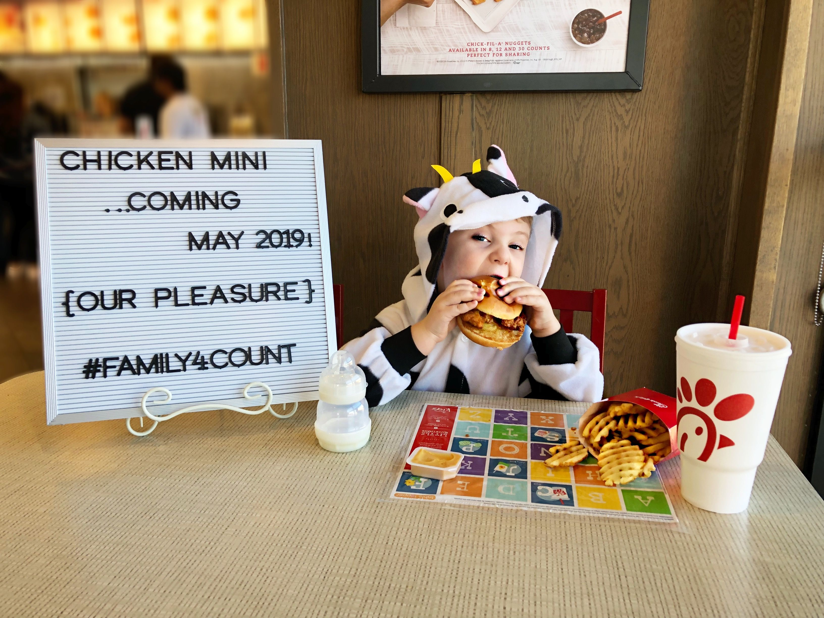 6628dcb26 Have to share our chick fil a. Pregnancy announcement. Follow me on IG  @baileymakesnbakes