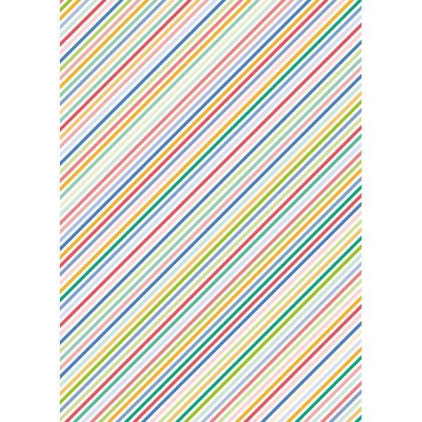 hoja papel seda rayas colores varios delipapel