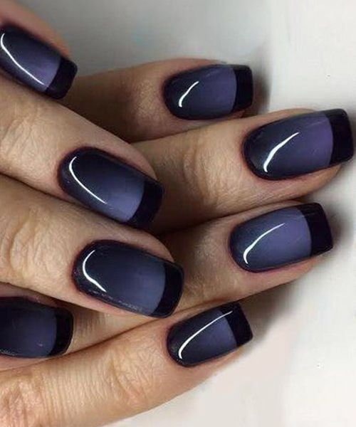 Cute Night Phase Blue Black Nail Art Designs For Prom Nail Art Designs Black Nail Designs Blue Nails