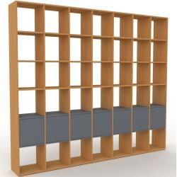 Photo of Regalsystem aus Eichenholz – Flexibles Regalsystem: Anthrazit-Türen – Hochwertige Materialien – 272 x 233