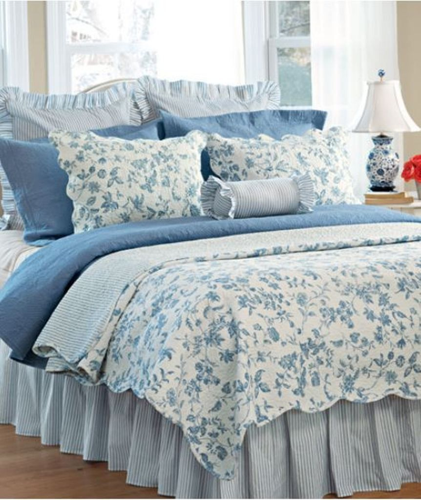 Us 246 50 New With Tags In Home Garden Bedding Quilts Bedspreads Coverlets Country Bedroom French Country Bedrooms Blue Rooms