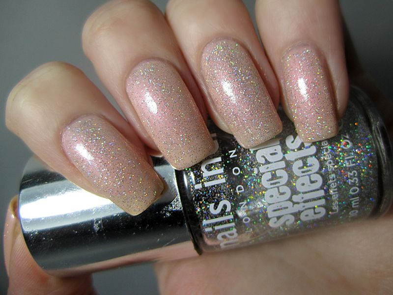 Nails Inc Richmond with Electric Lane Swatch