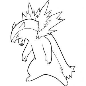 image result for coloring pages typhlosion line