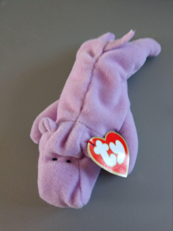 Happy the Hippo - Lavendar - Ty Teenie Beanie Babies - 1998 (Misprint) by 0a382c4110a7