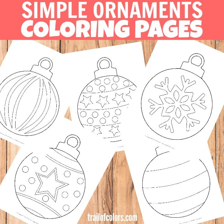 Simple Christmas Ornaments Coloring Page for Kids | Pinterest