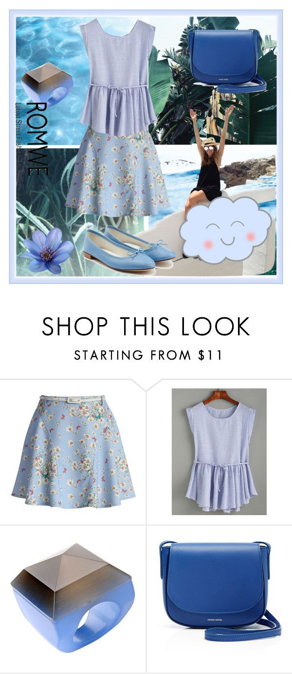 """Romwe"" by loveliest-back ❤ liked on Polyvore featuring Chicwish, First People First, Mansur Gavriel and Repetto"