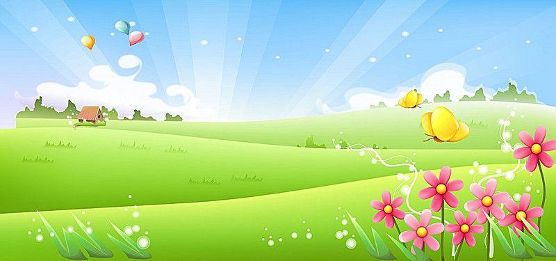 Cartoon Meadow Background