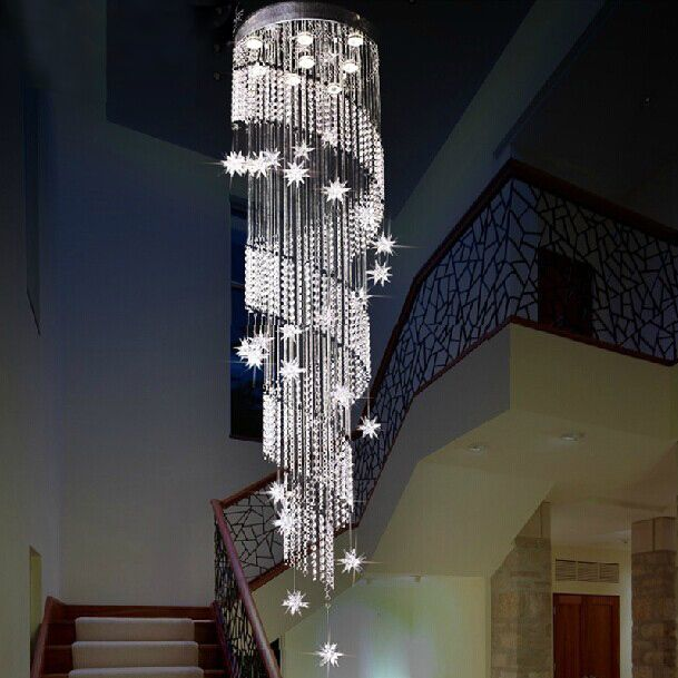 Nice ... Directly From China Spiral Crystal Chandelier Suppliers: Modern Design  Spiral Crystal Chandelier Lustres Home Decoration LED Home Stair Lighting  Flower