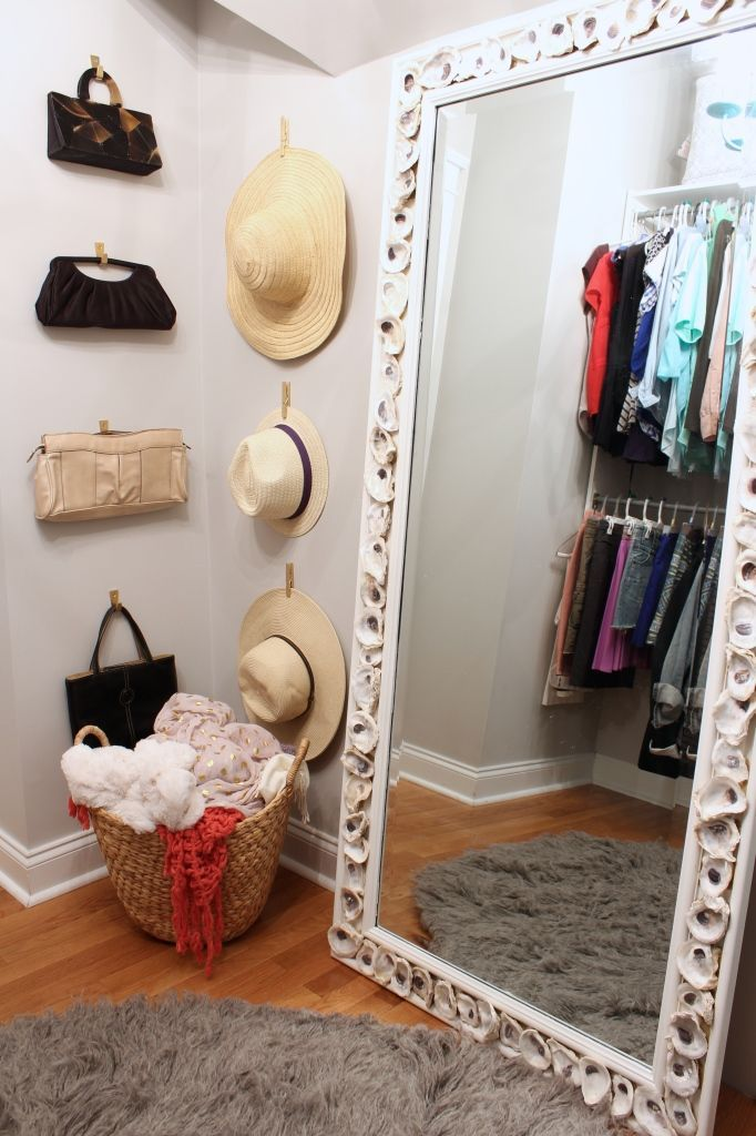 One Room Challenge Fall 2014 Week 6 Reveal Glam Closet with Stencil