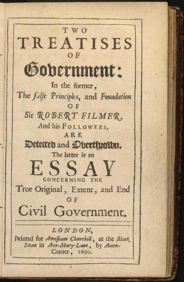 two treatises of government locke  jacob todd ingrams cloud  two treatises of government locke
