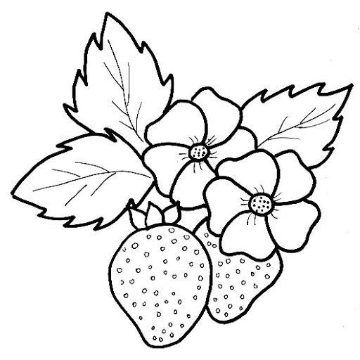 frutas para colorear y fresas - Cerca amb Google   patrones para ...