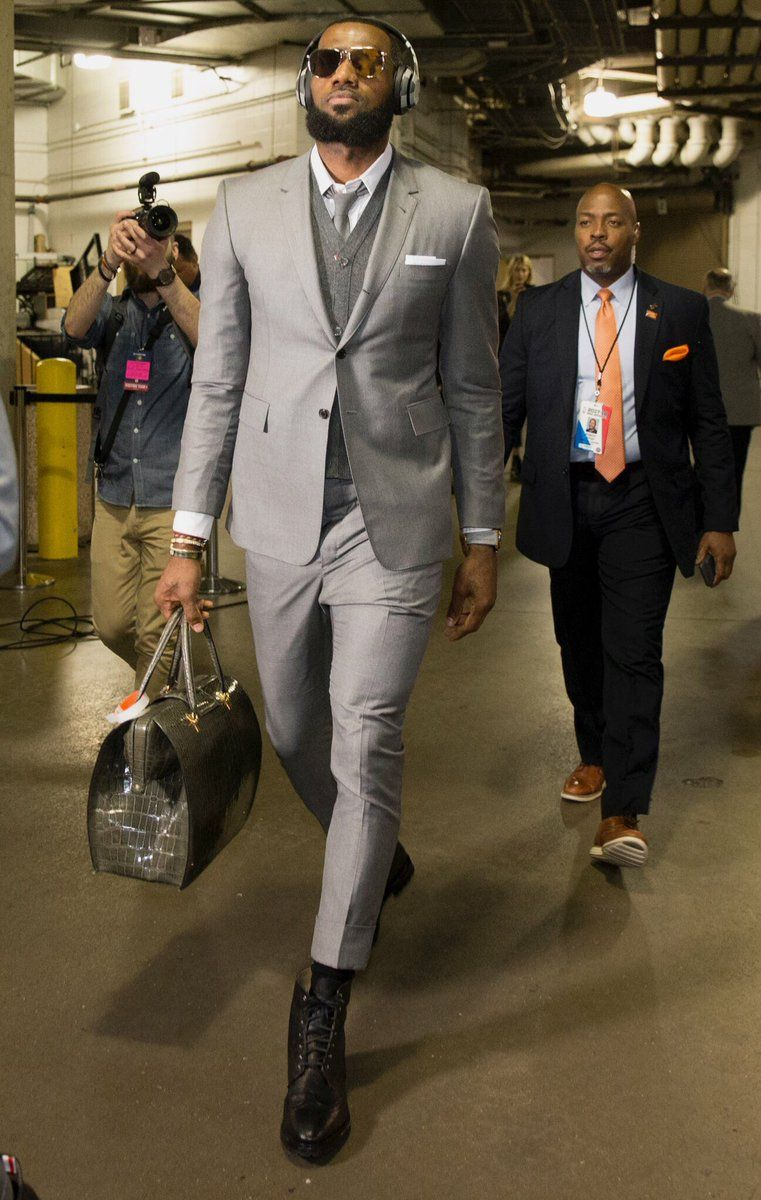 c24a91e72d91 The Cleveland Cavaliers Suit Up in Coordinated Thom Browne Looks in ...
