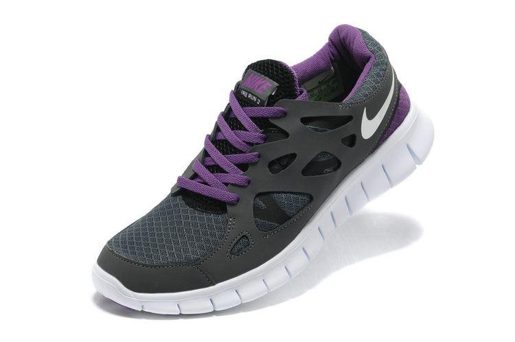 7f807958556ec Mens Carbon Purple Nike Free Run 2.0 Shoes 67754