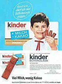 Kinderschokolade Altes Bild