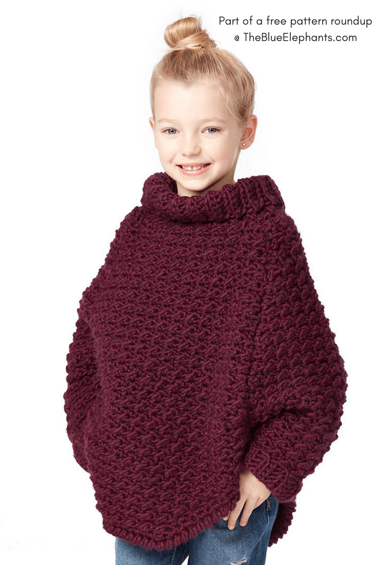 3689db10e522e5 20+ Free Crochet Sweater Patterns for Adults and Kids!