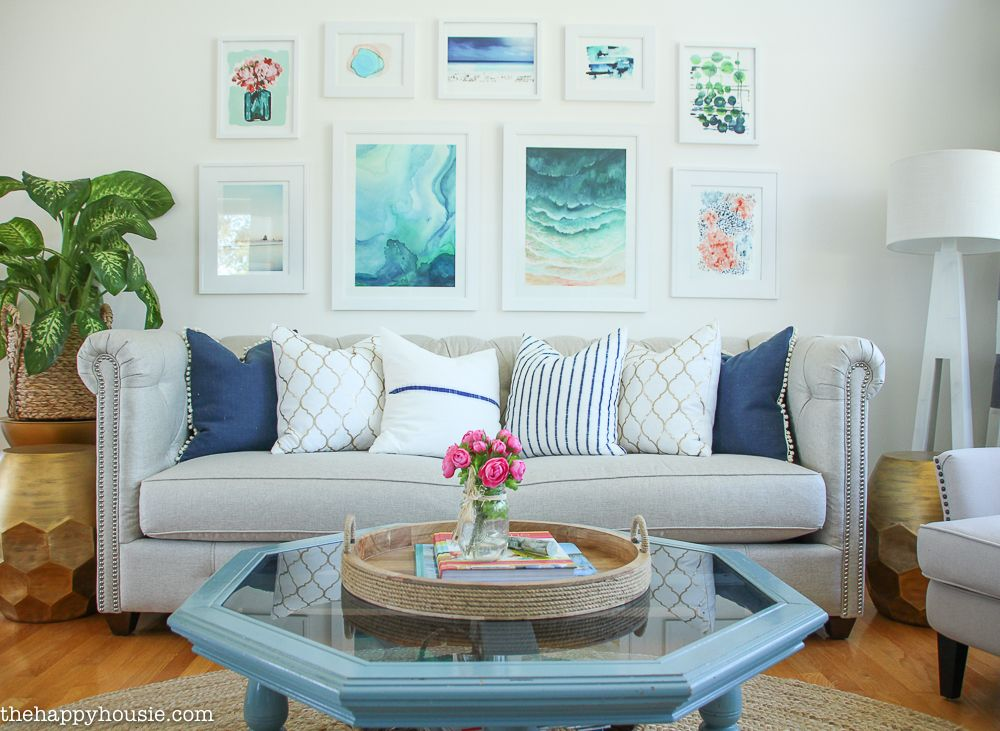 Living Room Makeover Reveal  Coastal Style Coastal And Living Rooms Glamorous Living Room Makeover Design Ideas