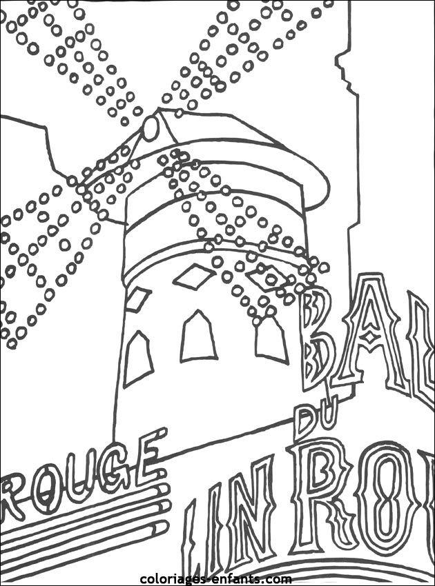 Coloriage Du Moulin Rouge French Foto Paris Moulin Rouge