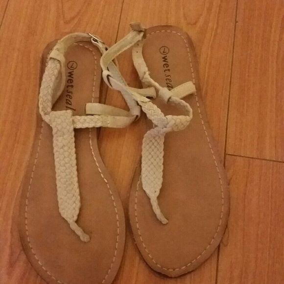 Soldwet Seal Flip Flop Tan Flip Flop Wet Seal Shoes -4775