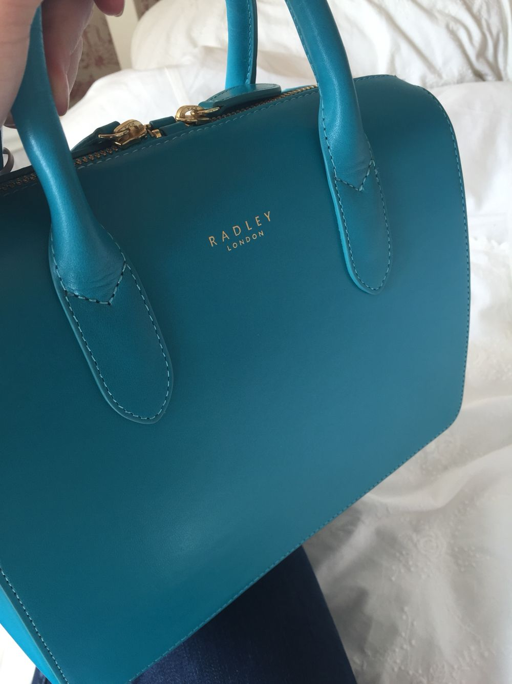 d5cf0e61e6 Petrol blue Radley handbag  Radley  fashion  basics Radley Handbags