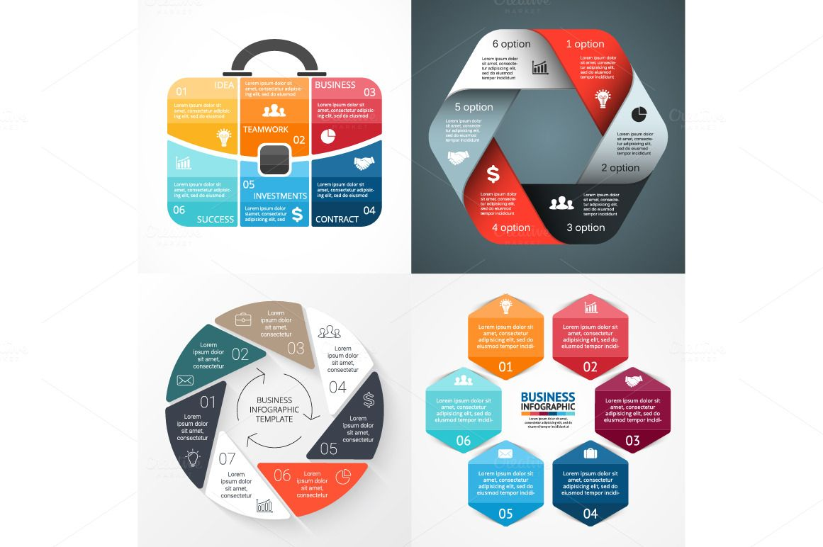 50 Infographics Best Sellers by theseamuss on Creative Market