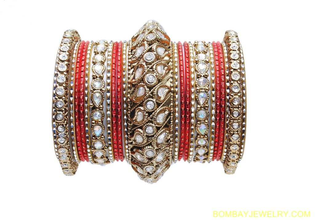 New 24 Bollywood Indian Bangles Asian Bracelets Jewellery Gold Burgundy Red