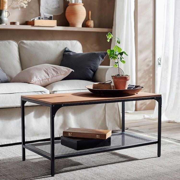 FJÄLLBO black, Coffee table, 90x46 cm IKEA in 2020